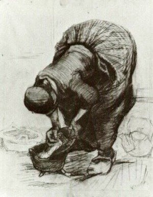 Vincent Van Gogh - Peasant Woman at the Washtub