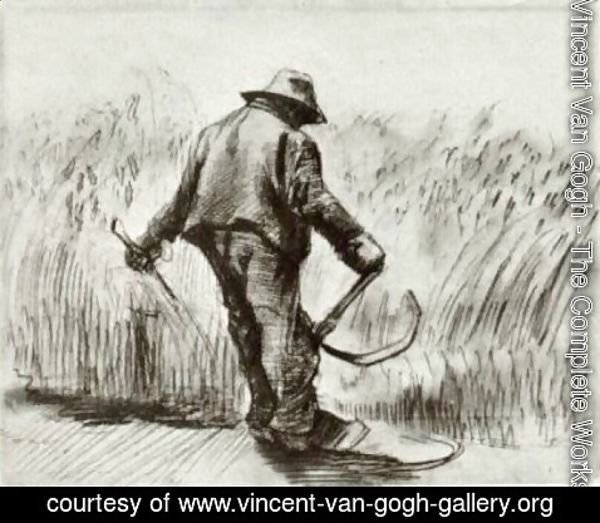 Vincent Van Gogh - Peasant with Sickle, Seen from the Back 3