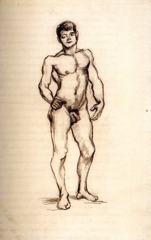 Vincent Van Gogh - Standing Male Nude Seen from the Front