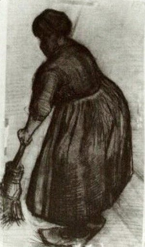 Peasant Woman with Broom