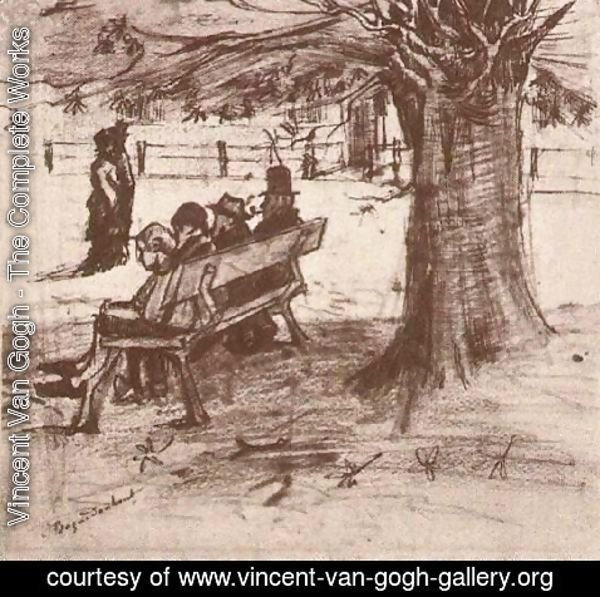 Vincent Van Gogh - Bench with Four Persons