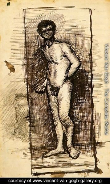 Vincent Van Gogh - Standing Male Nude Seen from the Front 2