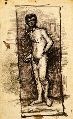 Standing Male Nude Seen from the Front 2