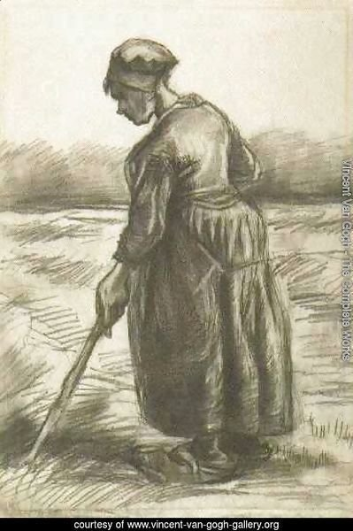 Peasant Woman, Working with a Long Stick