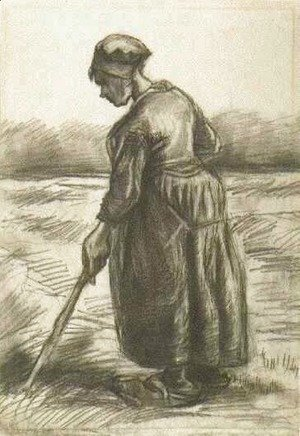 Vincent Van Gogh - Peasant Woman, Working with a Long Stick