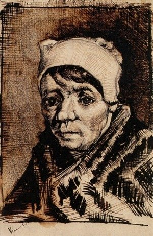 Vincent Van Gogh - Head of a Woman 10