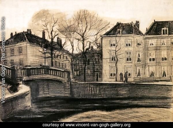 Bridge and Houses on the Corner of Herengracht-Prinsessegracht