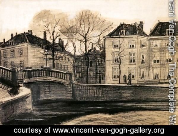 Vincent Van Gogh - Bridge and Houses on the Corner of Herengracht-Prinsessegracht