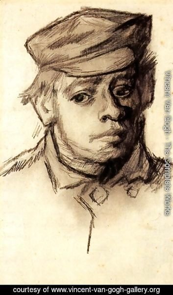 Vincent Van Gogh - Head of a Young Man 3