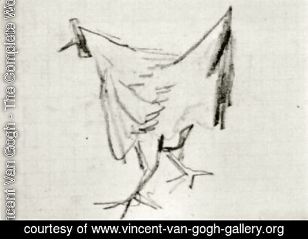 Vincent Van Gogh The Complete Works Sketch Of A Hen