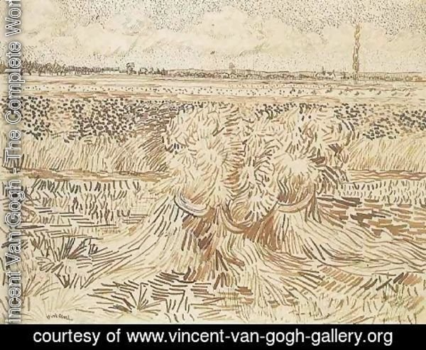 Vincent Van Gogh - Wheat Field with Sheaves 2