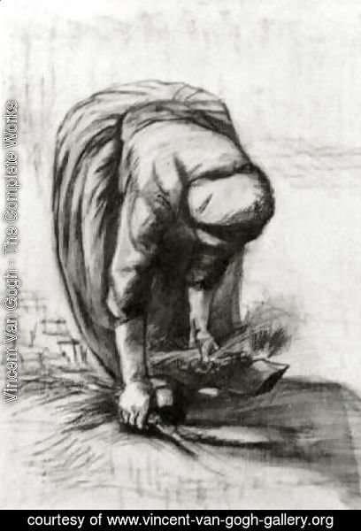 Vincent Van Gogh - Peasant Woman Stooping and Gleaning