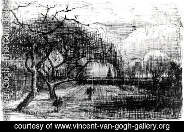 Vincent Van Gogh - Parsonage with Flowering Trees