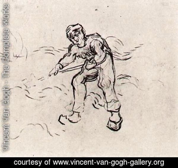 Vincent Van Gogh - Sketch of a Peasant Working