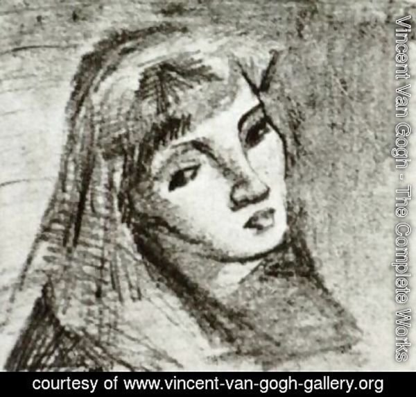 Vincent Van Gogh - Head of a Woman with Her Hair Loose 2
