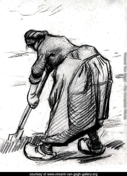 Peasant Woman, Digging, Seen from the Side