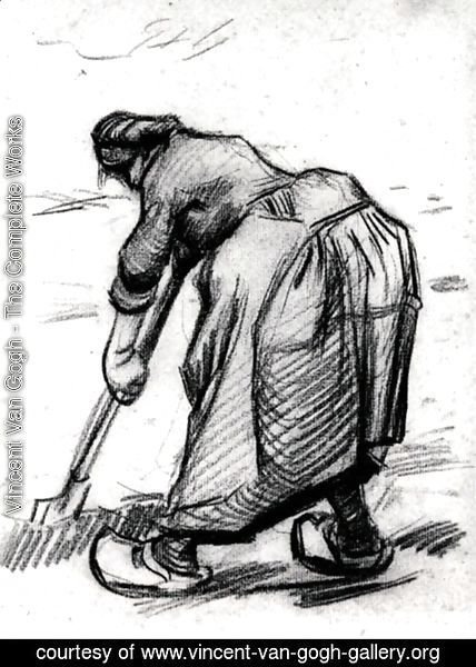 Vincent Van Gogh - Peasant Woman, Digging, Seen from the Side