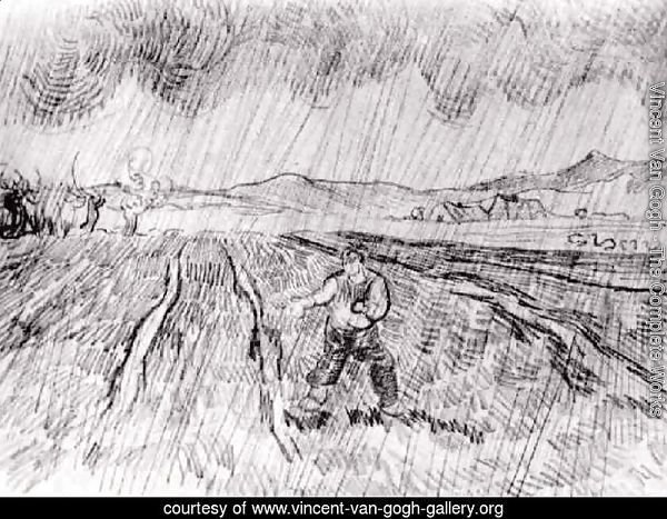 Enclosed Field with a Sower in the Rain