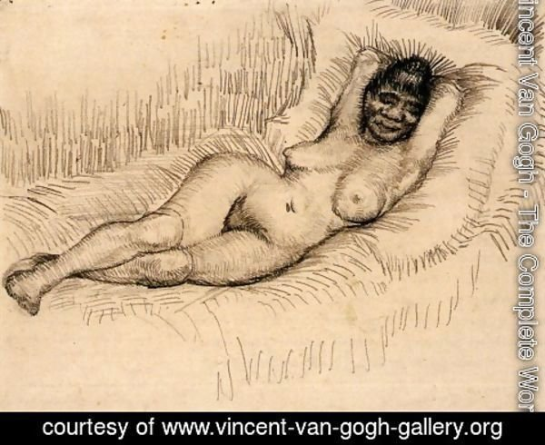 Vincent Van Gogh - Study for Reclining Female Nude