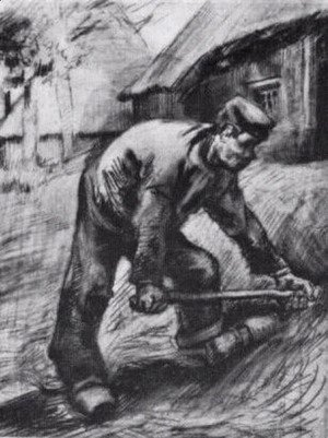 Vincent Van Gogh - Peasant, Chopping 2