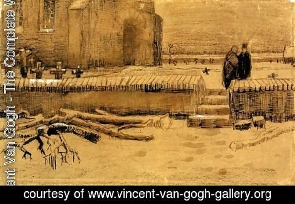 Vincent Van Gogh - Churchyard in Winter 2