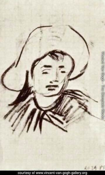 Head of a Boy with Broad-Brimmed Hat