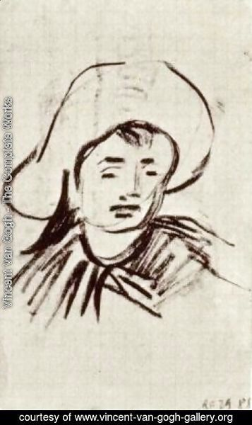 Vincent Van Gogh - Head of a Boy with Broad-Brimmed Hat