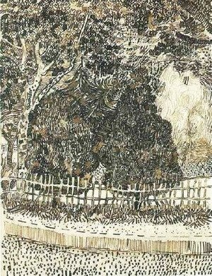 Vincent Van Gogh - Public Garden with Fence