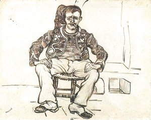 Vincent Van Gogh - Zouave Sitting, Whole Figure