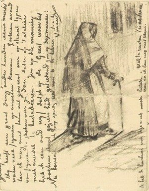 Vincent Van Gogh - Old Woman Seen from Behind