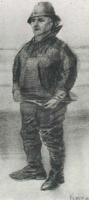 Vincent Van Gogh - Fisherman in Jacket with Upturned Collar
