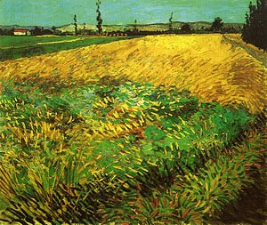 Vincent Van Gogh - Wheat Field with the Alpilles Foothills in the Background 2