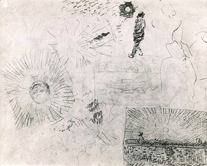 Vincent Van Gogh - Studies Figure The Enclosure Wall of Saint-Paul Hospital and Others