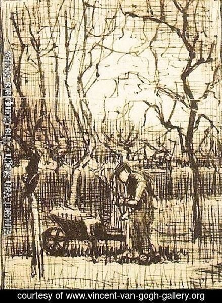 Vincent Van Gogh - Gardener with a Wheelbarrow