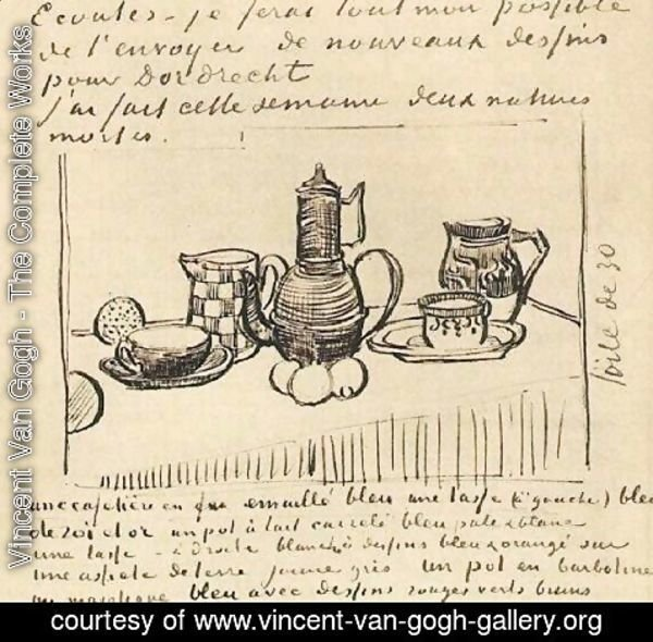 Vincent Van Gogh - Still Life with Coffee Pot 2
