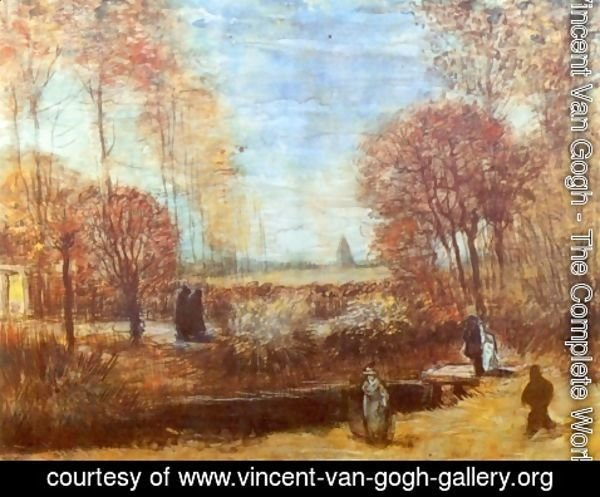 Vincent Van Gogh - The Parsonage Garden at Nuenen with Pond and Figures 2