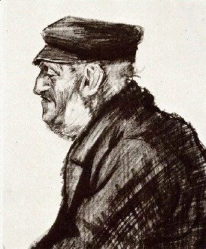 Vincent Van Gogh - Orphan Man with Cap, Head