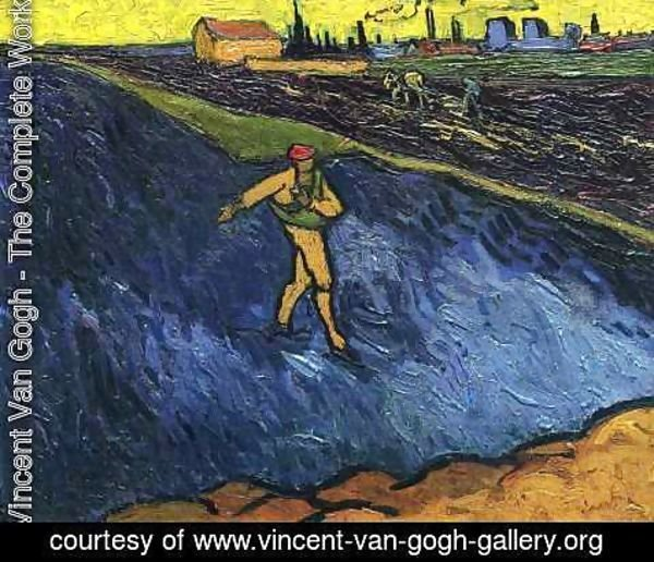 Vincent Van Gogh - The Sower Outskirts of Arles in the Background