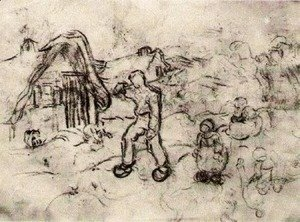 Sketches of a Cottage and Figures 2