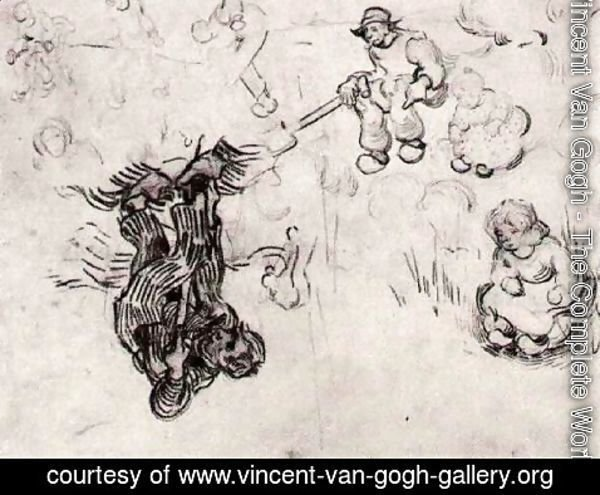 Vincent Van Gogh - Sheet with Sketches of a Digger and Other Figures