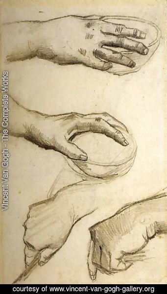 Vincent Van Gogh - Four Hands, Two Holding Bowls