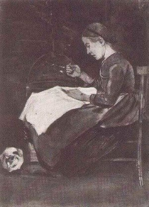 Vincent Van Gogh - Young Woman Sewing