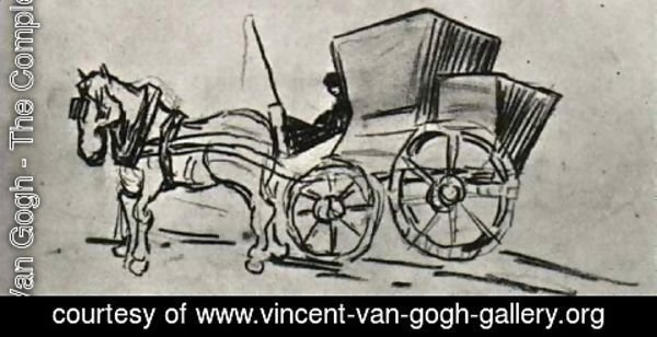 Vincent Van Gogh - Carriage Drawn by a Horse
