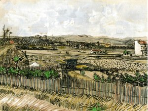 Vincent Van Gogh - Harvest in Provence, at the Left Montmajour