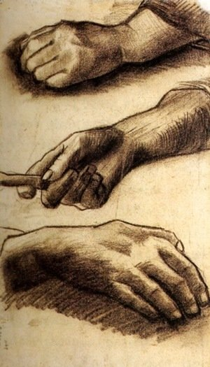 Vincent Van Gogh - Three Hands 3