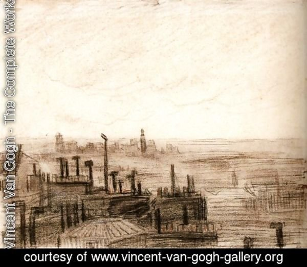 Vincent Van Gogh - View of Paris, with the Hotel de Ville and the Tour-Saint-Jacques