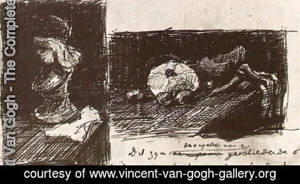 Vincent Van Gogh - Sculpture and Still Life with Cabbage and Clogs
