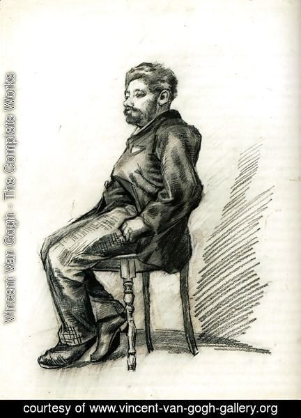 Vincent Van Gogh - Seated Man with a Beard 2