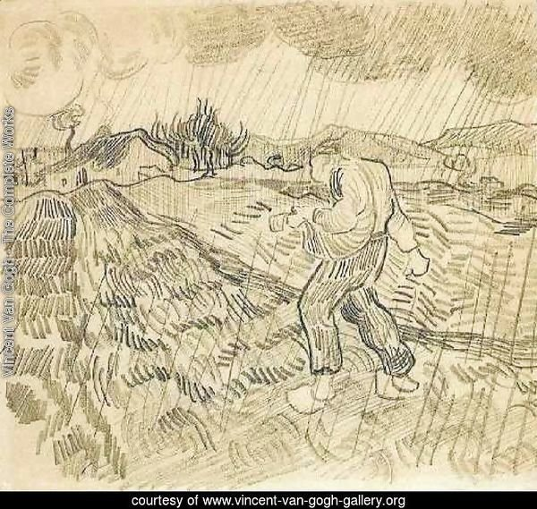 Enclosed Field with a Sower in the Rain 2