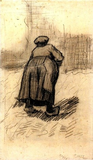 Vincent Van Gogh - Peasant Woman Lifting Potatoes 4